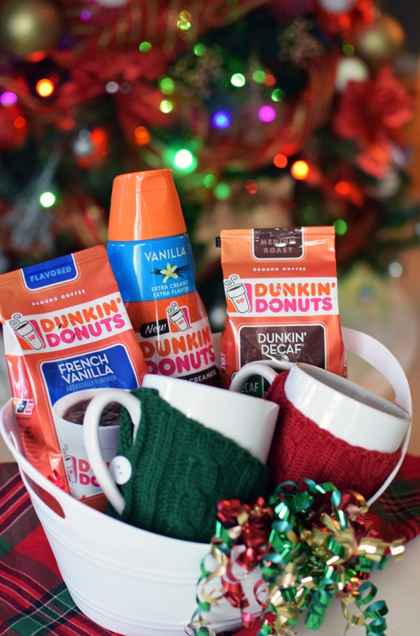 Dunkin Donuts Holiday Gift Basket - Pretty My Party