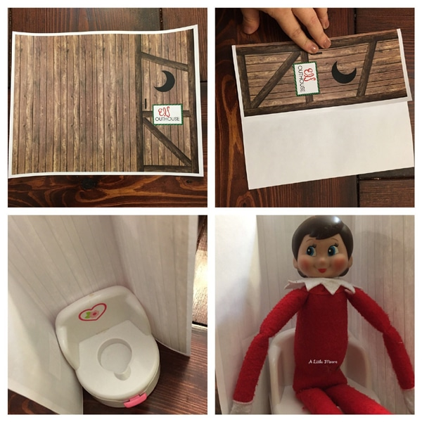 Free Elf on the Shelf Outhouse Printable