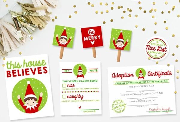 Free Printable Elf on the Shelf Kit