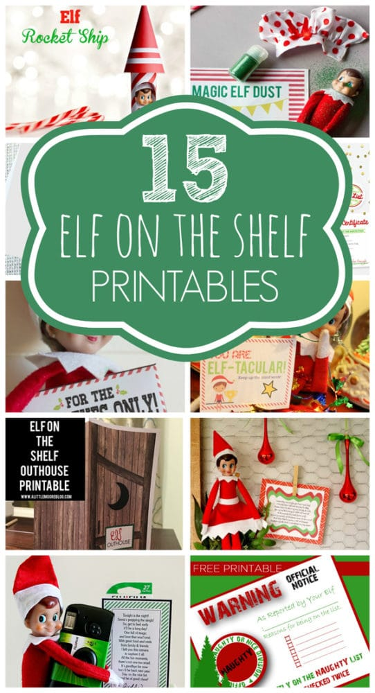 15 Free Elf on the Shelf Printables via Pretty My Party