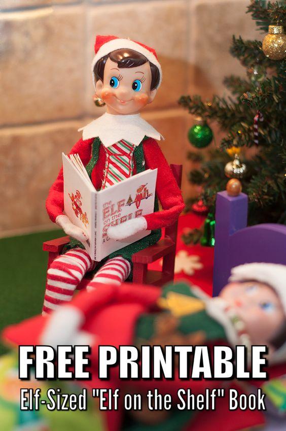 Free Elf Sized Book - Free Elf on the Shelf Printable