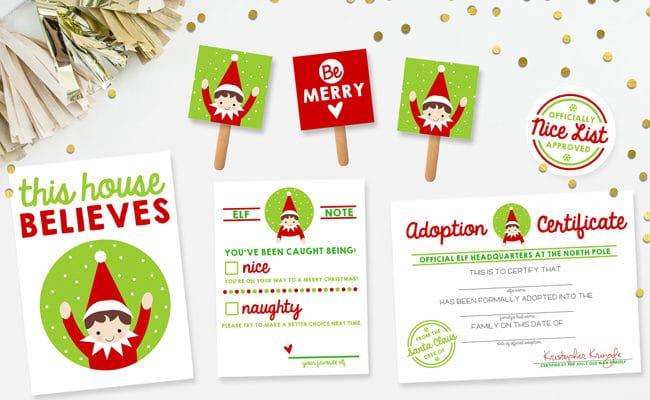 15 Free Elf on the Shelf Printables