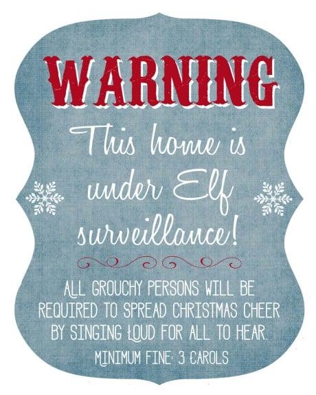 Free Elf on the Shelf Surveillance Printable