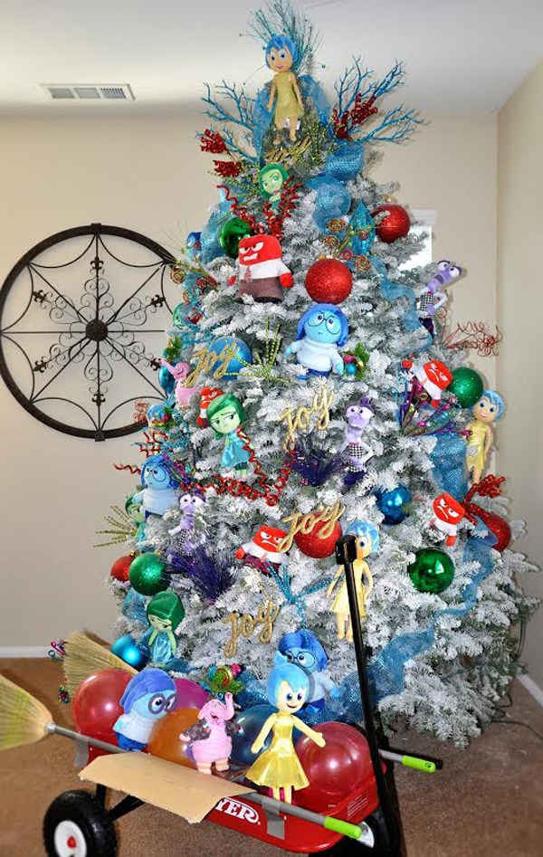 inside out disney themed christmas tree design - Themed Christmas Trees