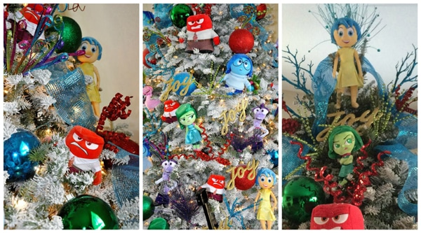 Inside Out Disney Themed Christmas Tree - Pretty My Party