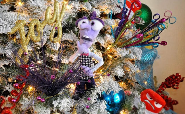 Inside Out Disney Themed Christmas Tree