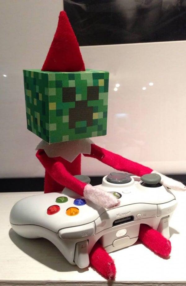 Free Minecraft Creeper Elf on the Shelf Printable