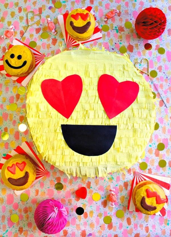 DIY Valentines Day Emoji Pinata