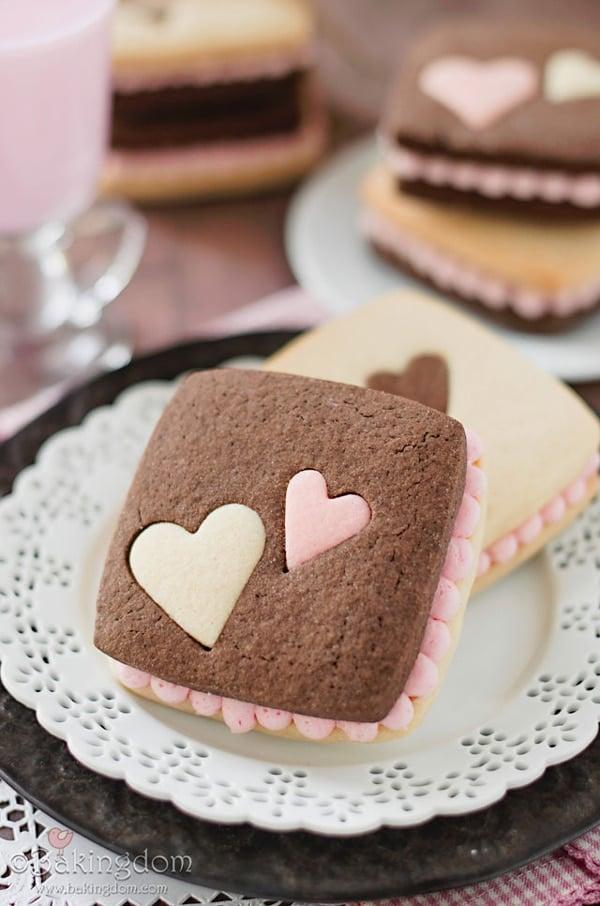 Neapolitan Sugar Cookie Sandwiches