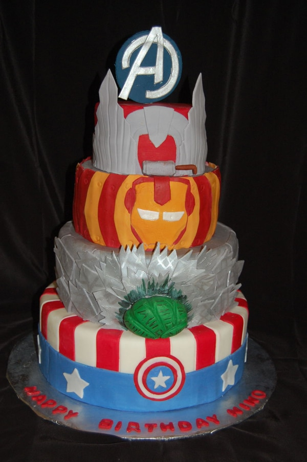 Marvel Birthday Cakes Marvel Superheroes Birthday Cake Nicky S 3rd