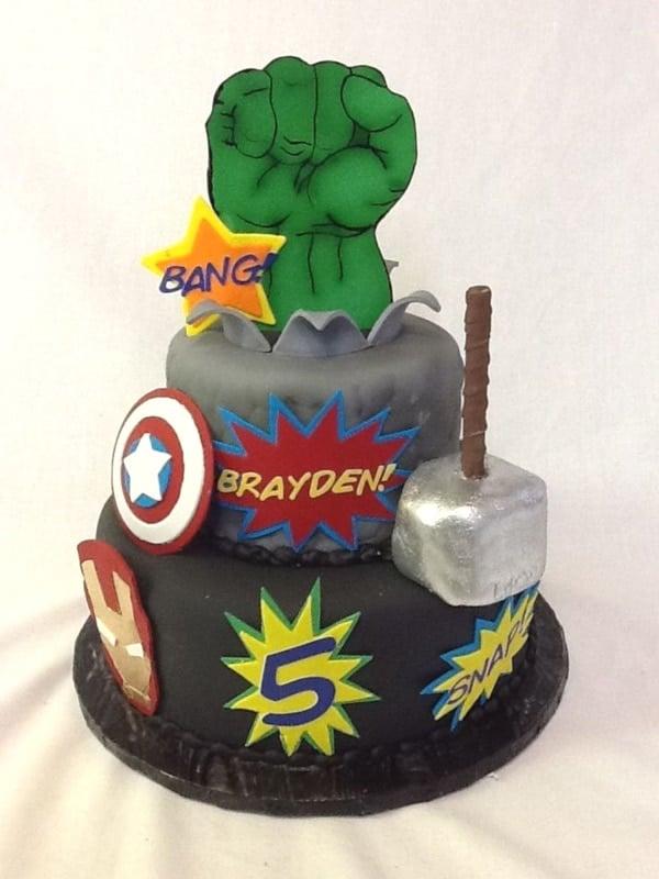 Marvel Heroes Birthday Cake