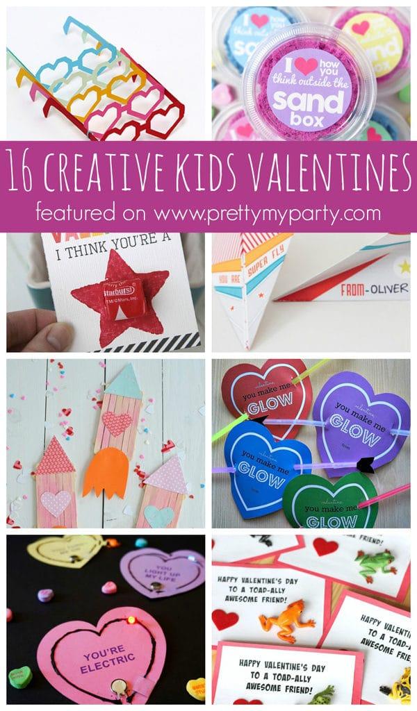 16 Creative Kids Valentine Ideas on Pretty My Party