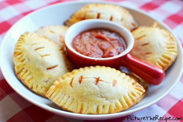 Football Pizza Pockets - How to throw a kid-friendly super bowl party