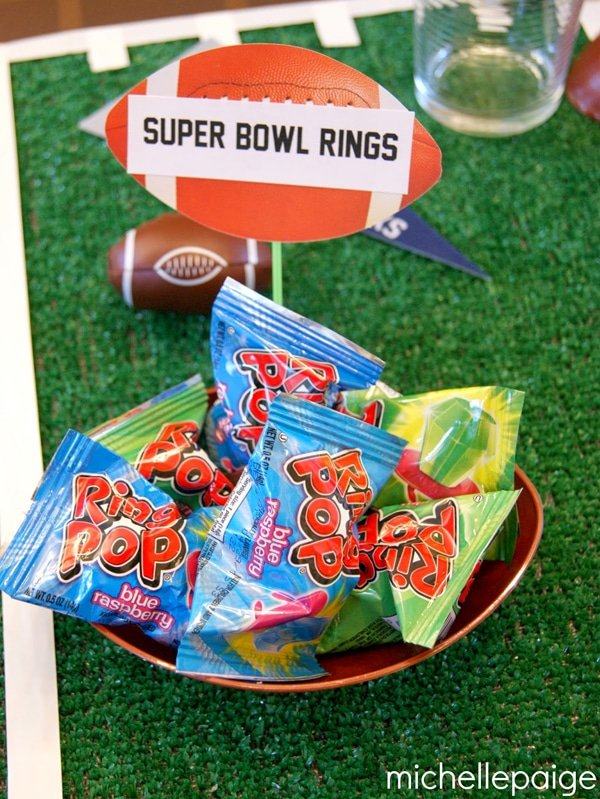 Super Bowl Rings - how to throw a kid-friendly super bowl party