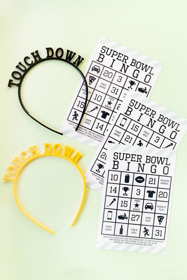 Super Bowl Bingo Free Printable Game
