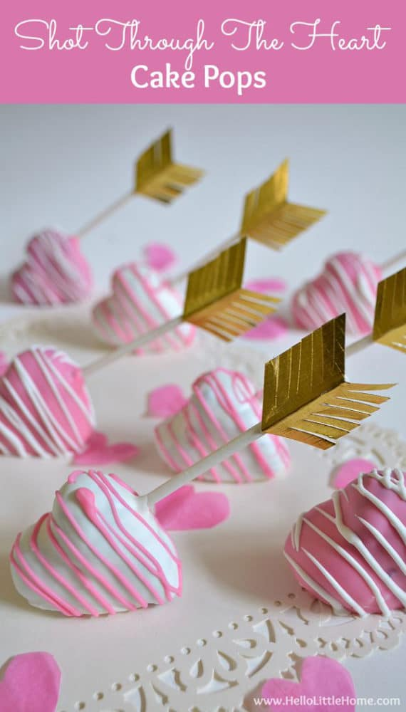 Cake Pop Designs Valentines Day : 15 Heart Inspired Desserts - Pretty My Party