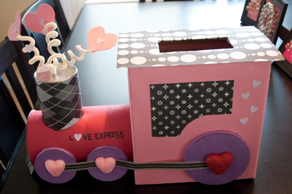 Love Express train valentine box