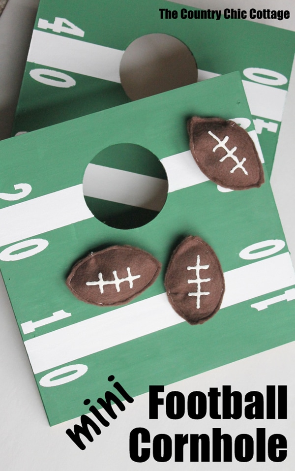 mini-football-cornhole-game
