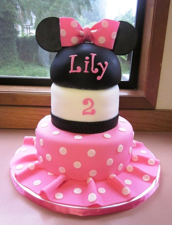 Image Result For Pink And Black Minnie Mouse Birthday Cake