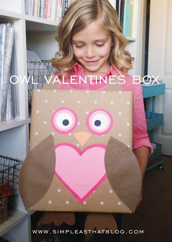 owl valentine box