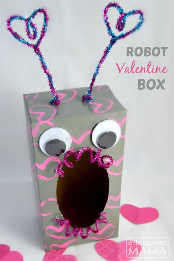 29 Adorable DIY Valentine Box Ideas Pretty My Party – Valentine Card Boxes for School