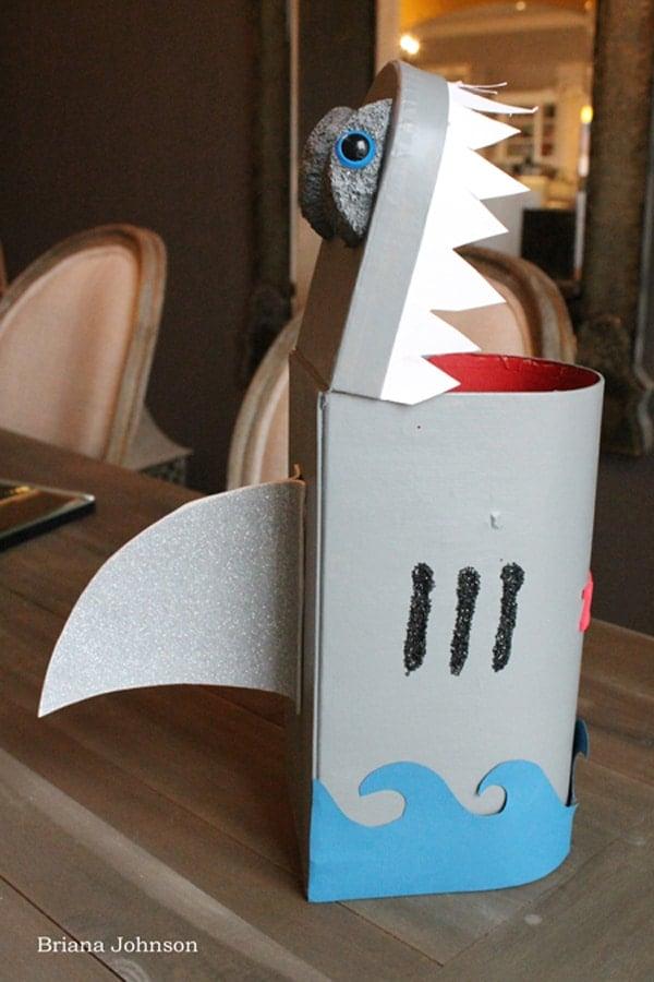 Shark Valentine Card Box Craft