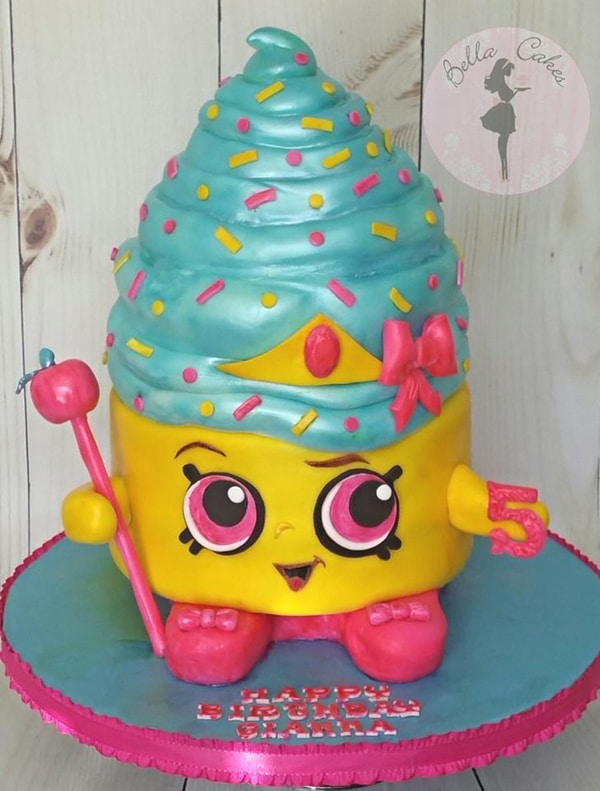 Queen Cake Shopkins character cake.