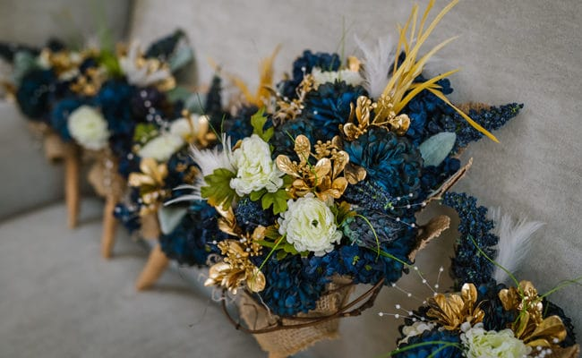 Teal and Lace Southern Farm Wedding