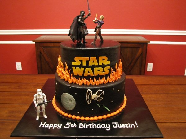 10 out of this world star wars cakes pretty my party - Star wars birthday cake decorations ...