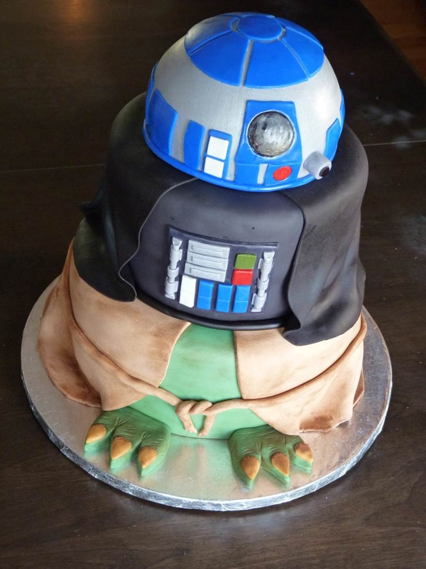 Images Of A Star Wars Cake : 10 Out of This World Star Wars Cakes - Pretty My Party