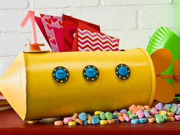 Yellow Submarine Valentine Card Box
