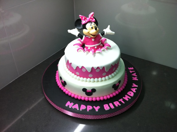 Surprise Minnie Mouse Birthday Cake