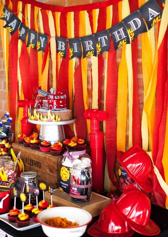 Fireman Birthday Bash Pretty My Party