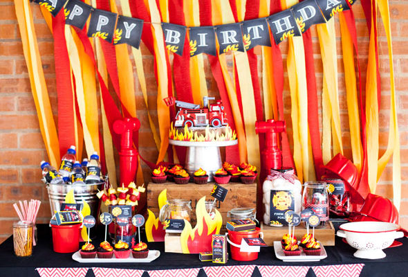Fireman Birthday Bash