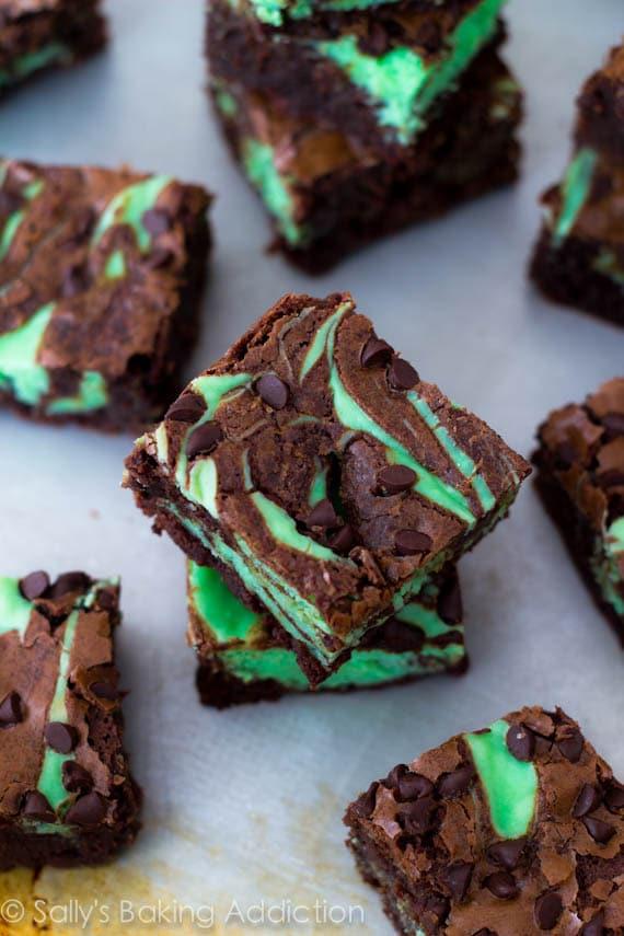 Mint-Chocolate-Chip-Cheesecake-Brownies