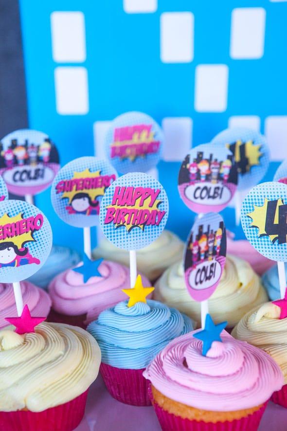 Super-Girl-Cupcakes