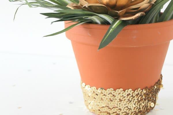 DIY Sequin Planter