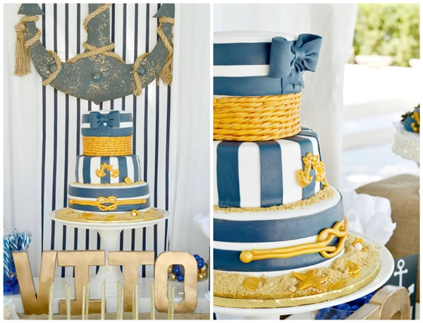 nautical-first-birthday-cake