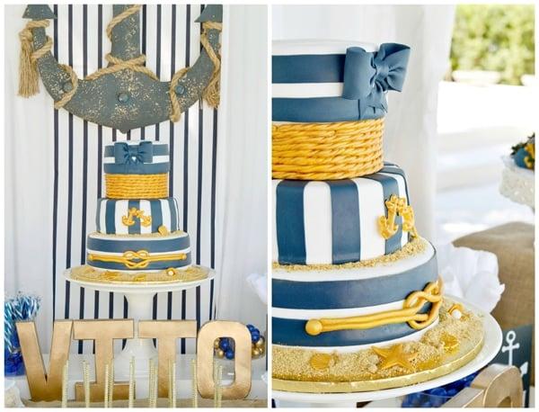 nautical-first-birthday-cake