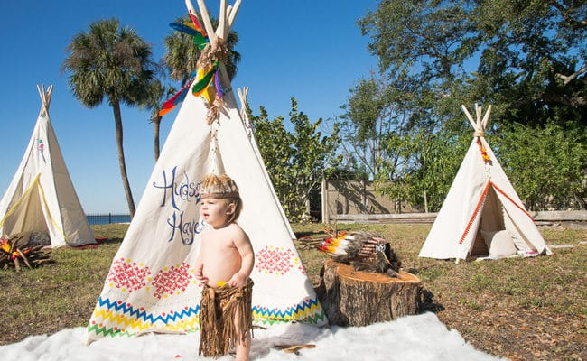 Teepee Indians First Birthday Party