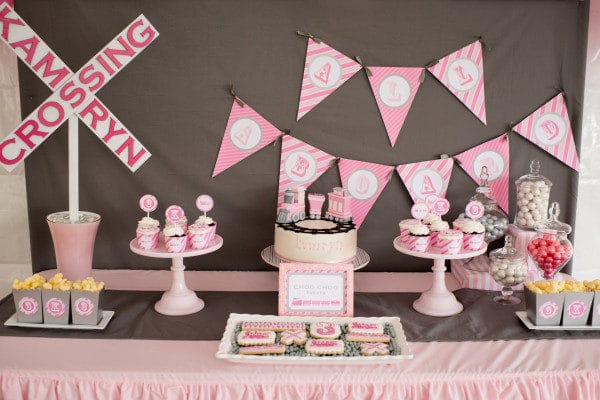 Girly Train Birthday Party