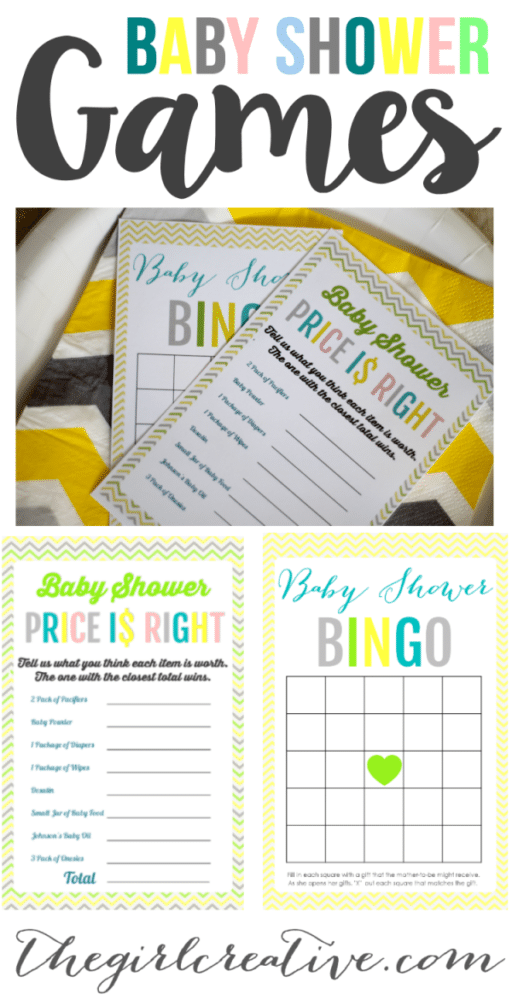 It's just a photo of Eloquent Baby Shower Printouts