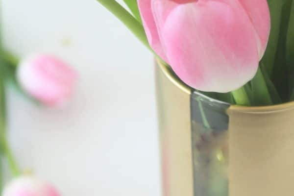 DIY Painted Flower Vase