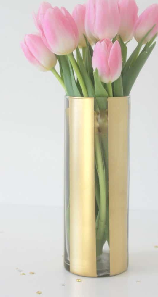 Diy painted flower vase pretty my party Diy home decor flower vase