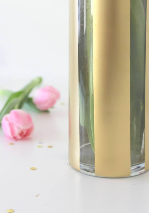 diy painted flower vase pretty my party