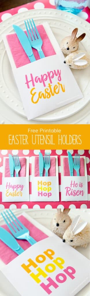 Free Printable Easter Utensil Holders