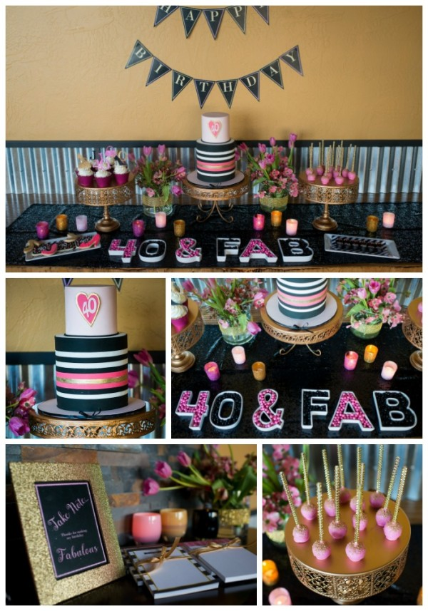 Glamorous 40th birthday party pretty my party for 40 birthday decoration ideas