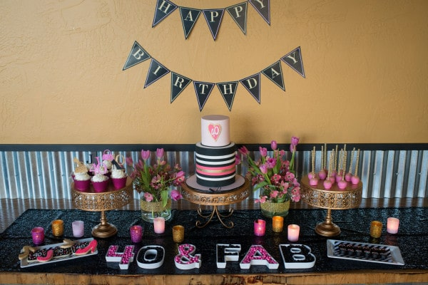 Glam 40th Birthday Party by Hoopla Events