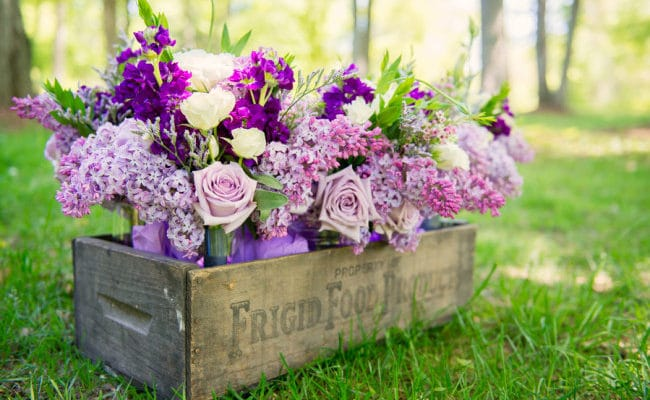 Purple Vintage Inspired Wedding