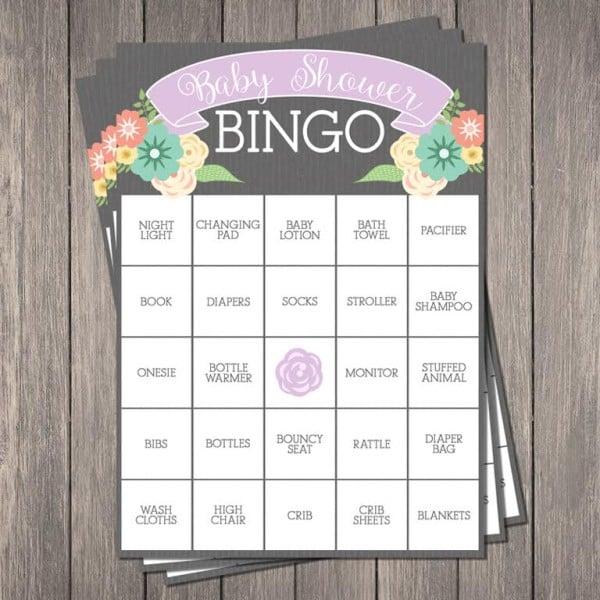 Free Baby Shower Bingo Printable | Pretty My Party